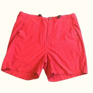 Wind River red high rise hiking shorts L